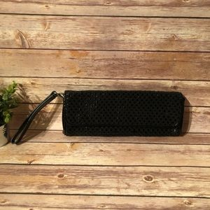 Hobo black woven clutch ⭐️